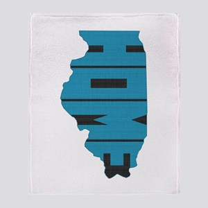 Illinois Home Throw Blanket