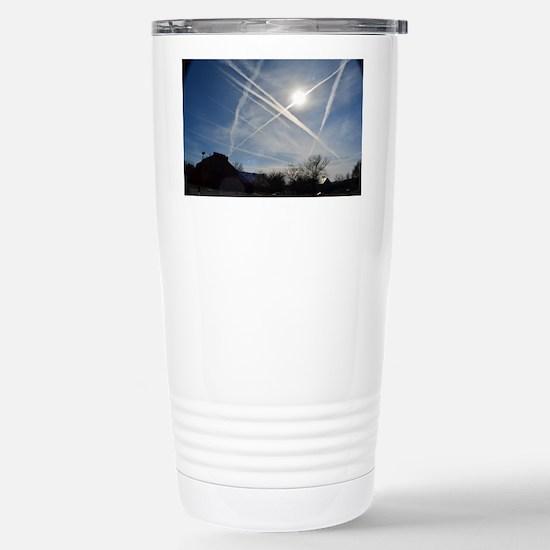 Chemtrail Grid Stainless Steel Travel Mug