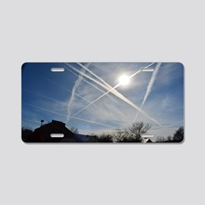 Chemtrail Grid Aluminum License Plate