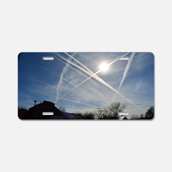 Chemtrail Grid Aluminum License Plate