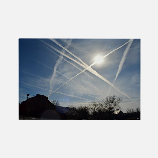 Chemtrail Grid Rectangle Magnet
