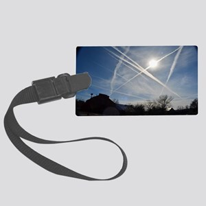 Chemtrail Grid Large Luggage Tag