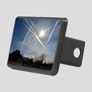 Chemtrail Grid Rectangular Hitch Cover