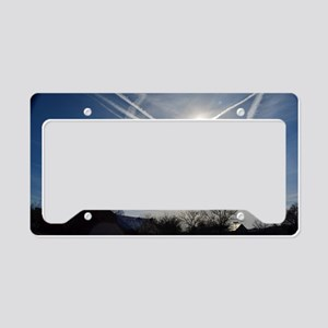 Chemtrail Grid License Plate Holder