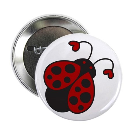 """Heart Ladybug 2.25"""" Button (10 pack)"""
