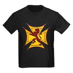 Royal Scottish Biker Cross Kids Dark T-Shirt