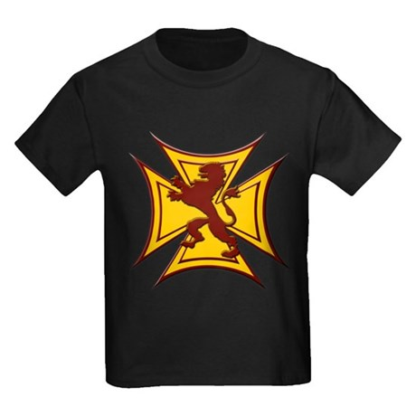 Royal Scottish Biker Cross Kids Dark T-Shirt