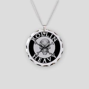 Rollin Heavy Logo Necklace Circle Charm