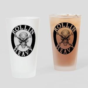 Rollin Heavy Logo Drinking Glass
