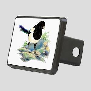 Watercolor Curious Magpie Bird Nature Art Rectangu