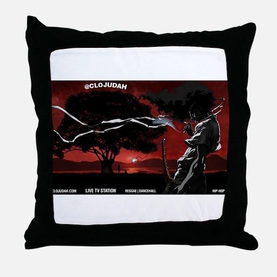CLOJudah Samurai Throw Pillow