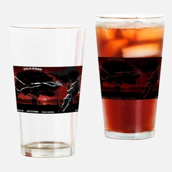 CLOJudah Samurai Drinking Glass