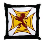 Royal Scottish Biker Cross Throw Pillow
