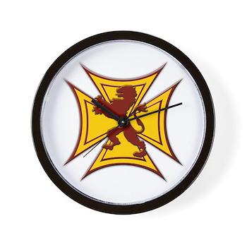 Royal Scottish Biker Cross Wall Clock