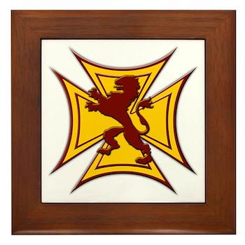 Royal Scottish Biker Cross Framed Tile