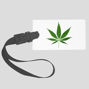 Pot Leaf Luggage Tag