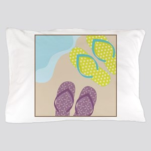 Sandles In Sand Pillow Case