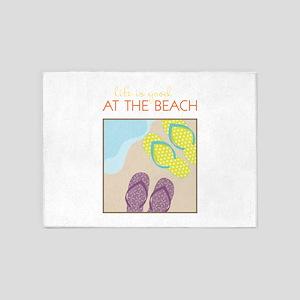 At The Beach 5'x7'Area Rug