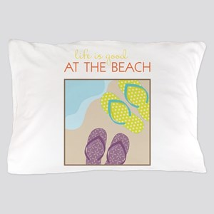 At The Beach Pillow Case