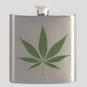 Pot Leaf Flask