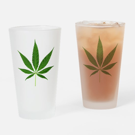 Pot Leaf Drinking Glass