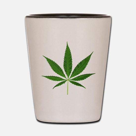 Pot Leaf Shot Glass