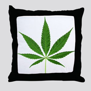 Pot Leaf Throw Pillow