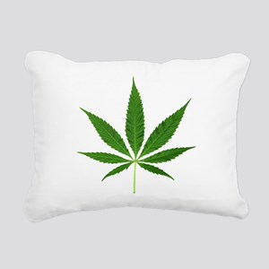 Pot Leaf Rectangular Canvas Pillow