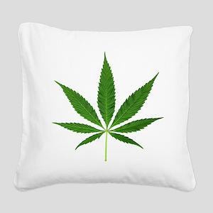 Pot Leaf Square Canvas Pillow