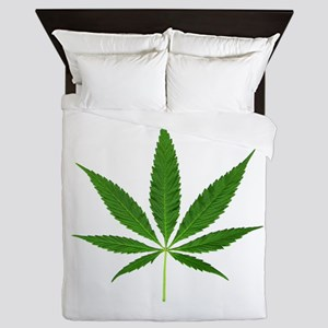 Pot Leaf Queen Duvet