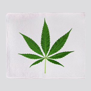 Pot Leaf Throw Blanket