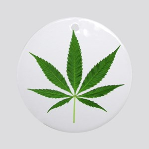 Pot Leaf Ornament (Round)