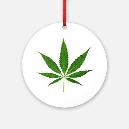 Pot Leaf Ornament (Round)