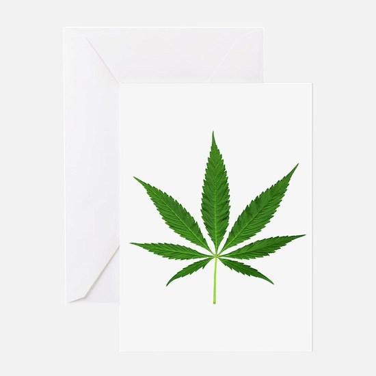 Pot Leaf Greeting Cards