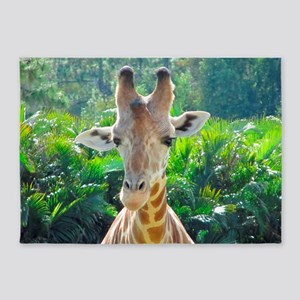 GIRAFFE LOVE 5'x7'Area Rug