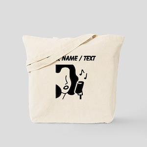 Custom Woman Singing Tote Bag