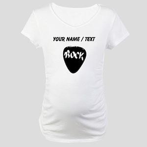 Custom Guitar Pick Maternity T-Shirt