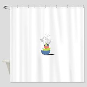 Kitchen Utensils Shower Curtain