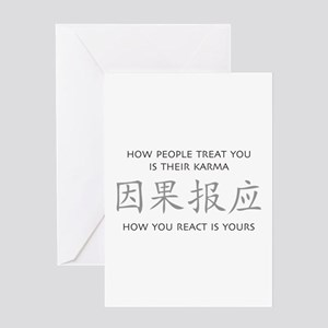 How You React Is Yours Greeting Cards
