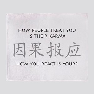 How You React Is Yours Throw Blanket