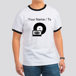 Custom Cassette And Record T-Shirt