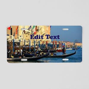 Venetian gondoliers Aluminum License Plate