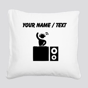 Custom DJ Booth Square Canvas Pillow