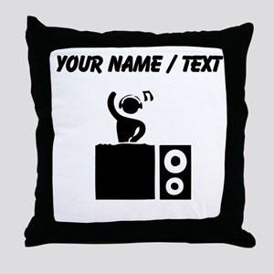 Custom DJ Booth Throw Pillow