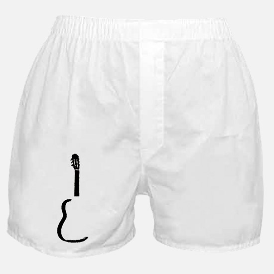 Black Acoustic Guitar Boxer Shorts