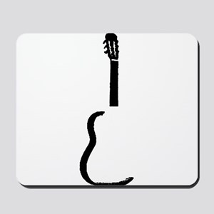 Black Acoustic Guitar Mousepad
