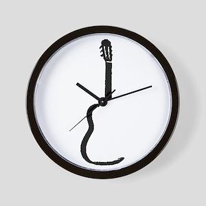 Black Acoustic Guitar Wall Clock