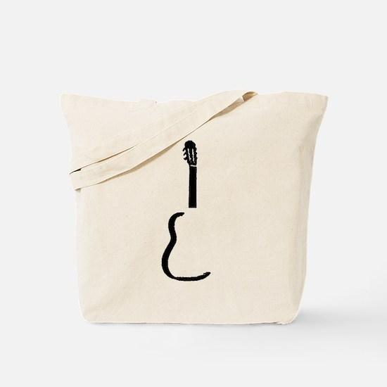 Black Acoustic Guitar Tote Bag