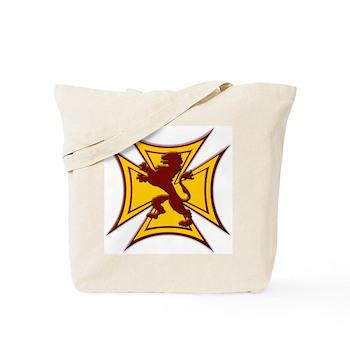 Royal Scottish Biker Cross Tote Bag