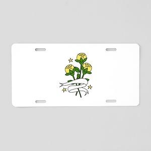 Texas Roses Aluminum License Plate